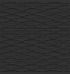 Black texture abstract pattern seamless wave wavy vector
