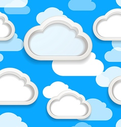 Clouds seamless background vector