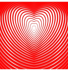 Design heart twisting movement background vector