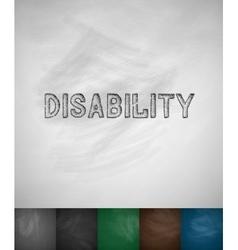 Disabiliti icon vector
