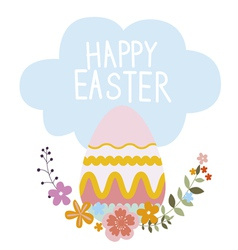 Easter design with egg vector image vector image