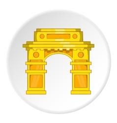 Eastern arch icon cartoon style vector