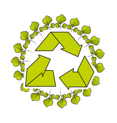 environment symbol to care of earth planet ecology vector image