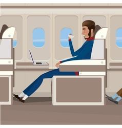 Flight in business class vector image