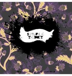 Grunge splatter card vector