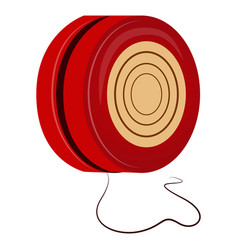 isolated yo-yo toy vector image