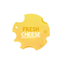 Label with cheese round form vector