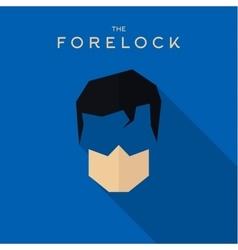 Mask Forelock Hero superhero flat style icon vector image