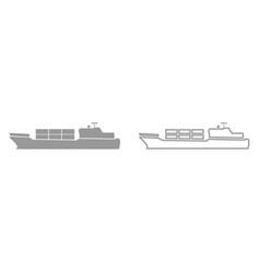 Merchant ship it is black icon vector