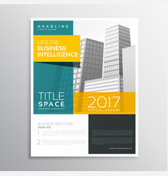 Modern business brochure template design in clean vector