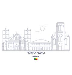 Porto-novo city skyline vector
