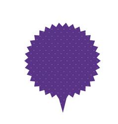 Purple chat star bubble icon vector
