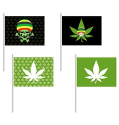 Rasta flags set Banner for addicts of Jamaica vector image vector image