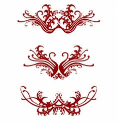 Regal decorations vector