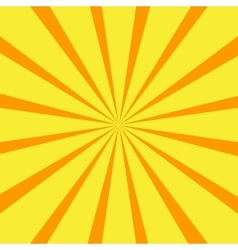 Retro orange background ray vector