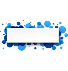 Round blue banner vector