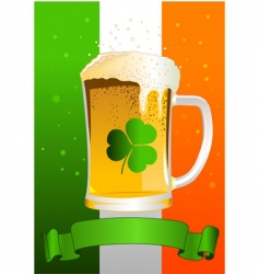 St patrick's day celebration background vector