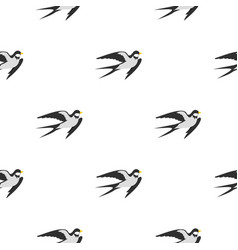 swallow pattern flat vector image