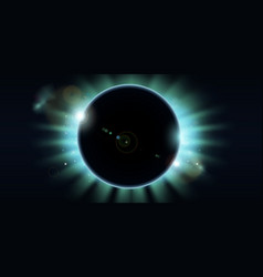 total eclipse vector image