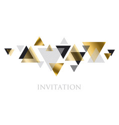 Triangle geometry abstract for header invitation vector