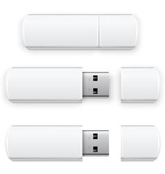 USB Flash vector image