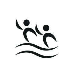 Synchronized swimming pictogram monochrome vector