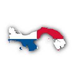 Map and flag of panama vector