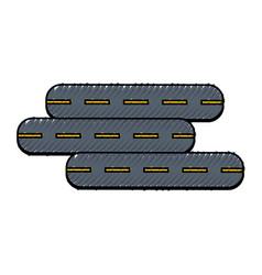 Highway street symbol vector