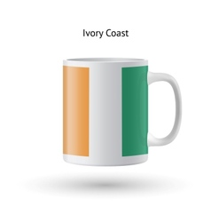 Ivory coast flag souvenir mug on white background vector