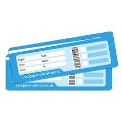 Blank plane tickets vector