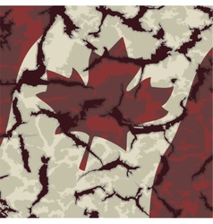 Canadian grunge flag vector