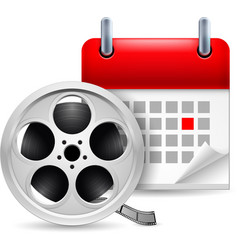 Film reel and calendar vector