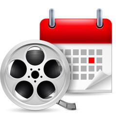 Film reel and calendar vector image
