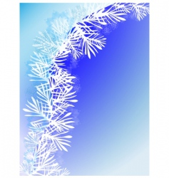 Winter background with snow branch vector