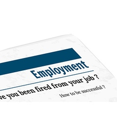 Newspaper - employment vector