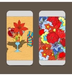 Phone cover back vector