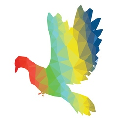 Colorful Polygonal Pigeon vector image