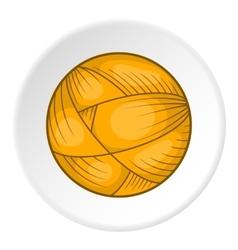 Ball of yarn icon flat style vector
