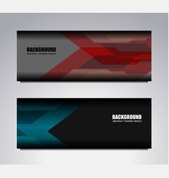 banner template modern background vector image vector image