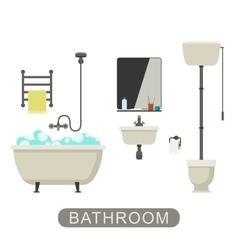 Bathroom with furnirure vector