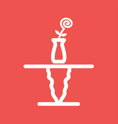 cafe table vector image vector image