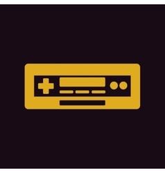 Car radio tape recorder vector