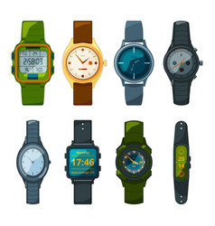 classic and sport hand watches for men and women vector image vector image