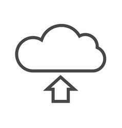 cloud storage thin line icon vector image vector image