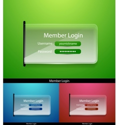 glass login page vector image