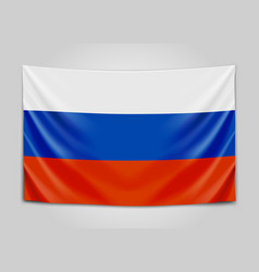Hanging flag of russia russian federation vector