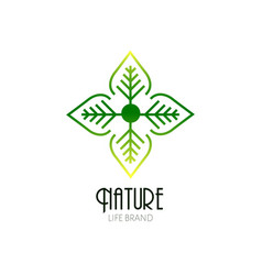 isolated nature logo vector image vector image