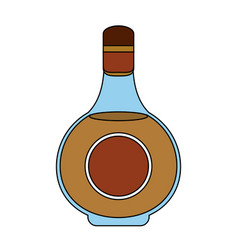 Liquor bottle with blank label icon image vector