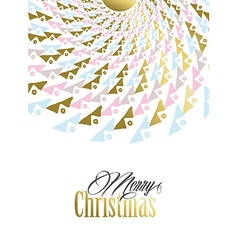 Merry christmas gold tribal mandala vector