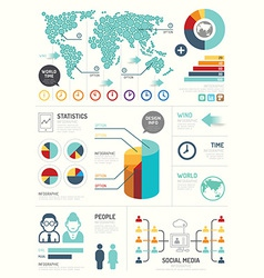 Modern design elements infographic template vector image vector image